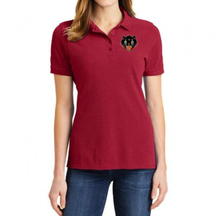 Vintage Halloween Scary Black Cat Horror Gift T Shirt Ladies Polo Shirt Designed By Platinumshop