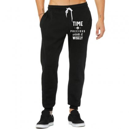 Time Is Precious Waste It Wisely Funny T-shirt Unisex Jogger Designed By Cidolopez