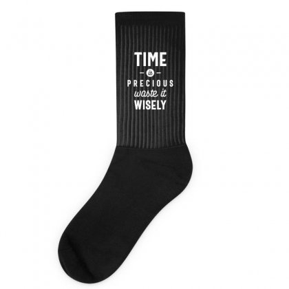 Time Is Precious Waste It Wisely Funny T-shirt Socks Designed By Cidolopez