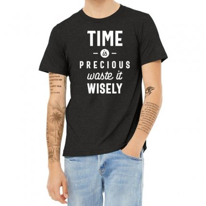 Time Is Precious Waste It Wisely Funny T-shirt Heather T-shirt Designed By Cidolopez