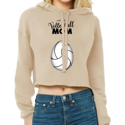 Soon To Be A Volleyball Mom Egg Cropped Hoodie Designed By Honeysuckle