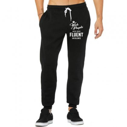 I Wish More People Were Fluent In Silence Funny Gifts Unisex Jogger Designed By Cidolopez