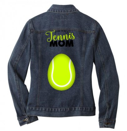Soon To Be A Tennis Mom Egg Ladies Denim Jacket Designed By Honeysuckle
