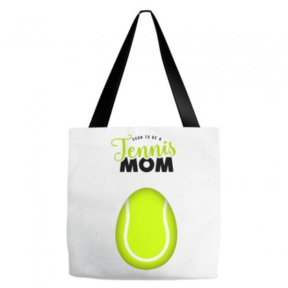 Soon To Be A Tennis Mom Egg Tote Bags Designed By Honeysuckle