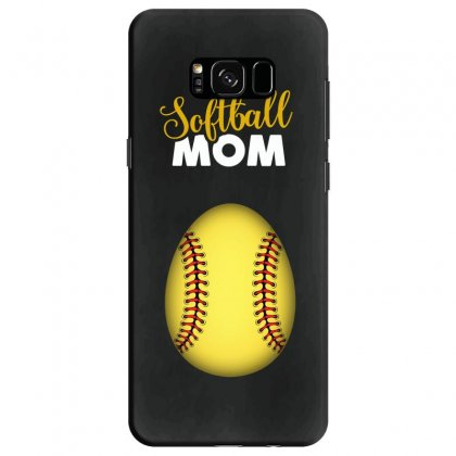 Soon To Be A Softball Mom Egg Samsung Galaxy S8 Case Designed By Honeysuckle