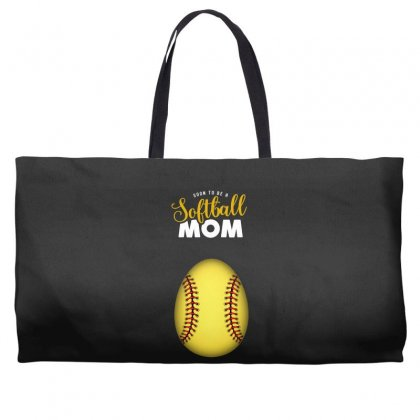 Soon To Be A Softball Mom Egg Weekender Totes Designed By Honeysuckle