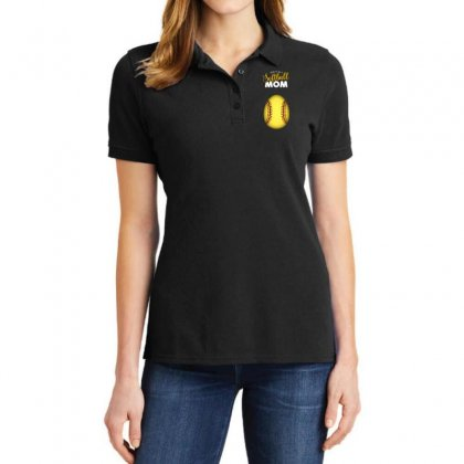 Soon To Be A Softball Mom Egg Ladies Polo Shirt Designed By Honeysuckle