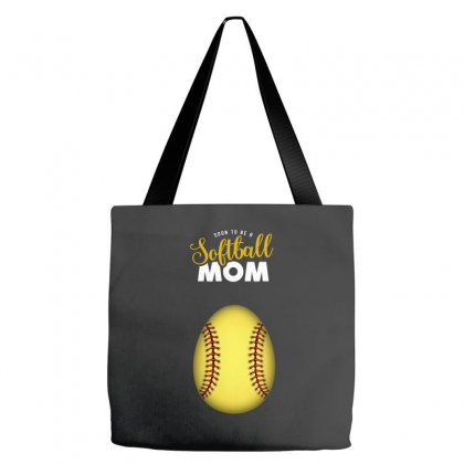 Soon To Be A Softball Mom Egg Tote Bags Designed By Honeysuckle