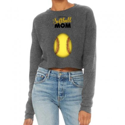 Soon To Be A Softball Mom Cropped Sweater Designed By Honeysuckle