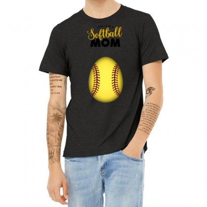 Soon To Be A Softball Mom Heather T-shirt Designed By Honeysuckle