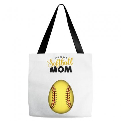 Soon To Be A Softball Mom Tote Bags Designed By Honeysuckle