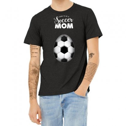 Soon To Be A Soccer Mom Heather T-shirt Designed By Honeysuckle