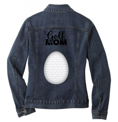 Soon To Be A Golf Mom Ladies Denim Jacket Designed By Honeysuckle