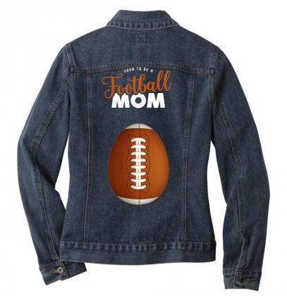 Soon To Be A Football Mom Ladies Denim Jacket Designed By Honeysuckle