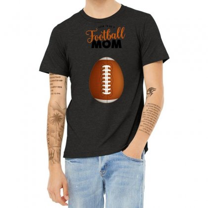 Soon To Be A Football Mom Heather T-shirt Designed By Honeysuckle