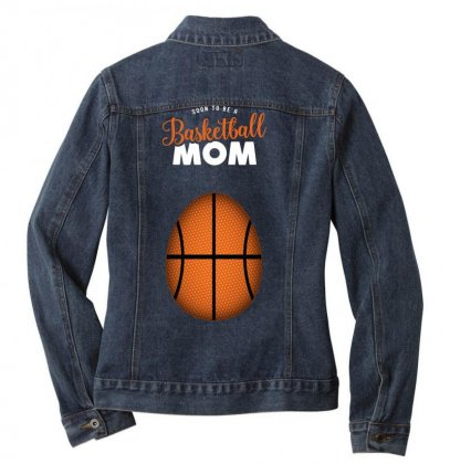 Soon To Be A Basketball Mom Ladies Denim Jacket Designed By Honeysuckle