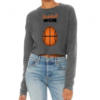 Soon To Be A Basketball Mom Cropped Sweater Designed By Honeysuckle