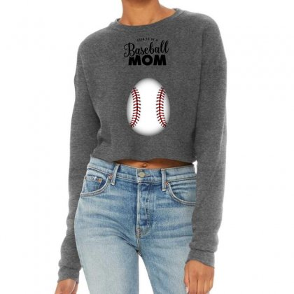 Soon To Be A Baseball Mom Cropped Sweater Designed By Honeysuckle