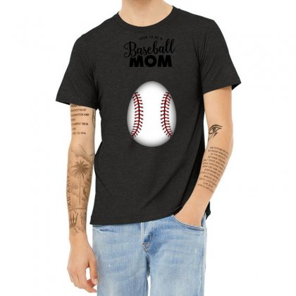 Soon To Be A Baseball Mom Heather T-shirt Designed By Honeysuckle