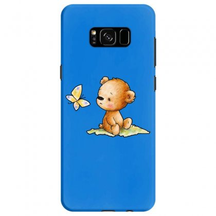 Drawing Of Cute Teddy Bear With Butterfly Samsung Galaxy S8 Case Designed By Butterfly99