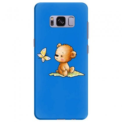 Drawing Of Cute Teddy Bear With Butterfly Samsung Galaxy S8 Plus Case Designed By Butterfly99