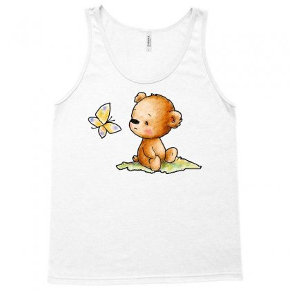 Drawing Of Cute Teddy Bear With Butterfly Tank Top Designed By Butterfly99