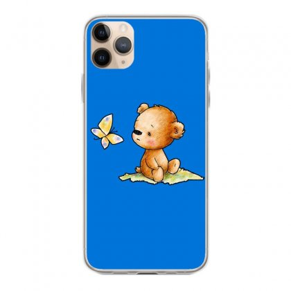 Drawing Of Cute Teddy Bear With Butterfly Iphone 11 Pro Max Case Designed By Butterfly99