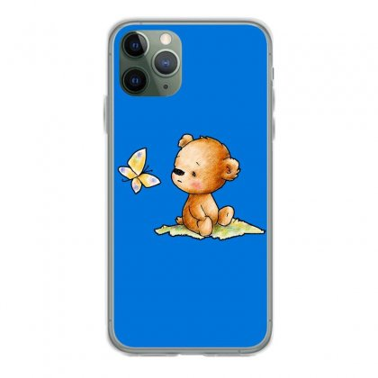 Drawing Of Cute Teddy Bear With Butterfly Iphone 11 Pro Case Designed By Butterfly99