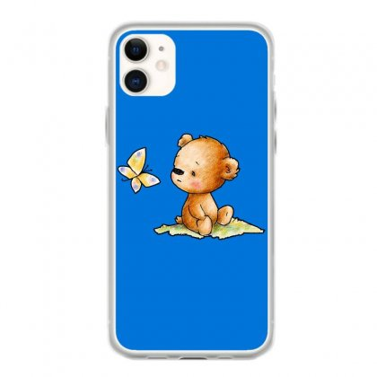 Drawing Of Cute Teddy Bear With Butterfly Iphone 11 Case Designed By Butterfly99