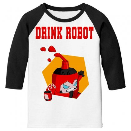Drink Robot Youth 3/4 Sleeve Designed By Butterfly99