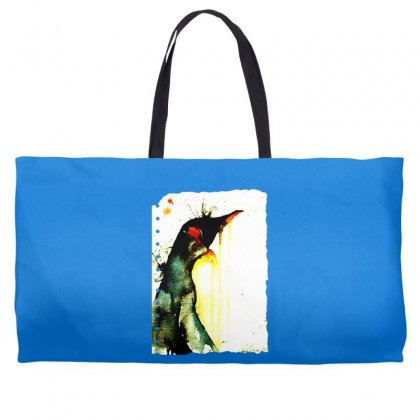 Emperor Penguin Art Weekender Totes Designed By Butterfly99