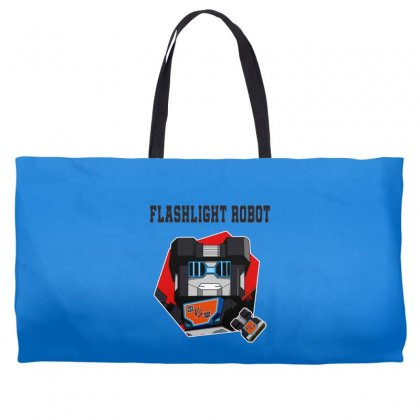 Flashlight Robot Weekender Totes Designed By Butterfly99