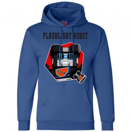 Flashlight Robot Champion Hoodie Designed By Butterfly99