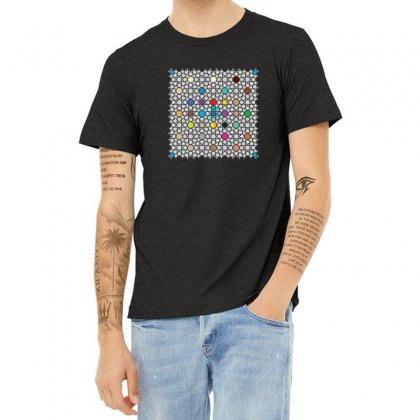 Moroccan Pattern Heather T-shirt Designed By Hamza Elb