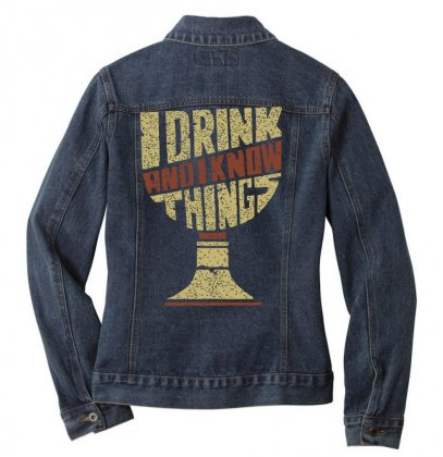 Game Of Tronnes Ladies Denim Jacket Designed By Butterfly99