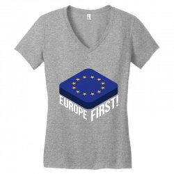europe first Women's V-Neck T-Shirt | Artistshot