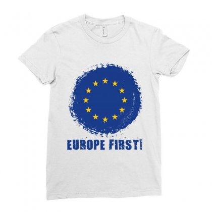 Europe First Ladies Fitted T-shirt Designed By Wizarts