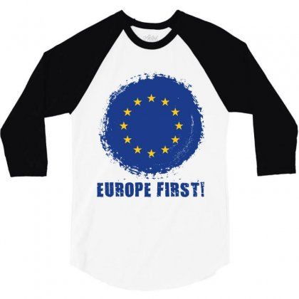 Europe First 3/4 Sleeve Shirt Designed By Wizarts