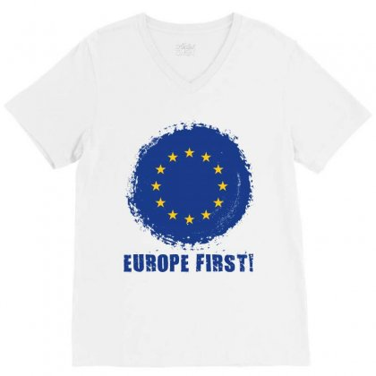 Europe First V-neck Tee Designed By Wizarts