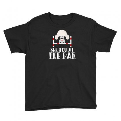 See You At The Bar Funny Poodle Dog Agility Premium T Shirt Youth Tee Designed By Platinumshop