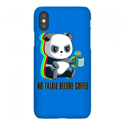 No Talkie Before Coffee Iphonex Case Designed By Butterfly99