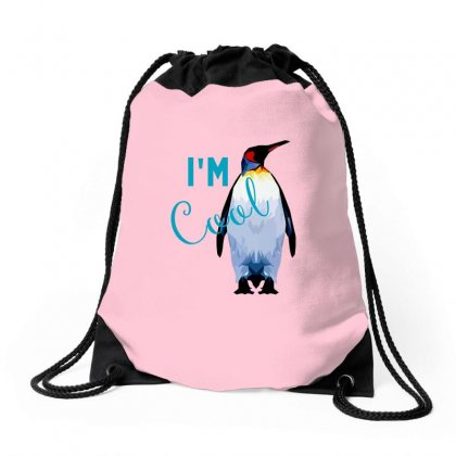 Pinguin Im Cool Drawstring Bags Designed By Butterfly99