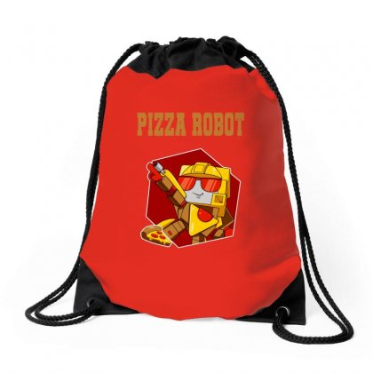 Pizza Robot Drawstring Bags Designed By Butterfly99