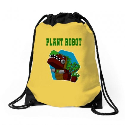 Plant Robot Drawstring Bags Designed By Butterfly99