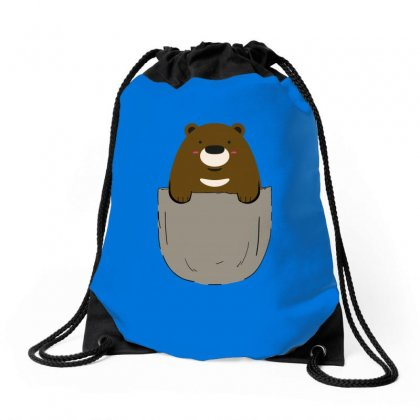 Pocket Bear Drawstring Bags Designed By Butterfly99