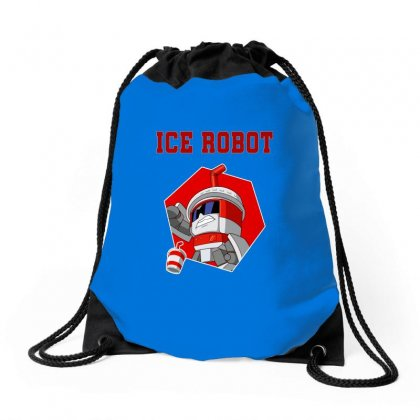 Pop Ice Robot Drawstring Bags Designed By Butterfly99