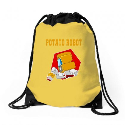 Potato Robot Drawstring Bags Designed By Butterfly99