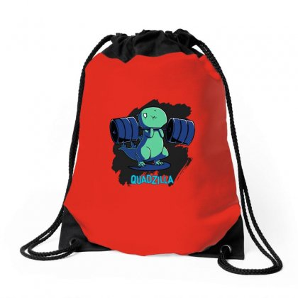 Quadzilla From Teeturtle Drawstring Bags Designed By Butterfly99