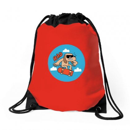 Rad Badge Drawstring Bags Designed By Butterfly99