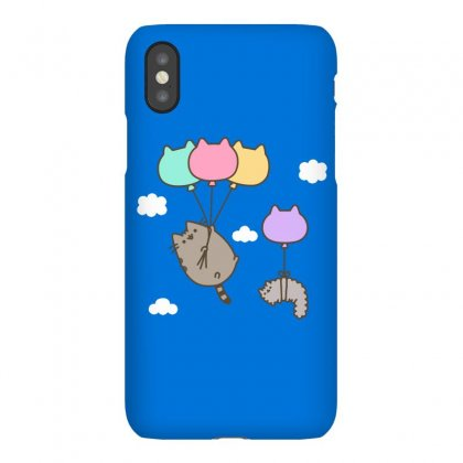 Raninbow Cat Ballon Iphonex Case Designed By Butterfly99